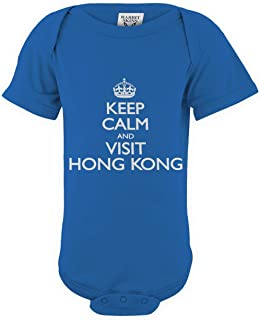 shirtloco Baby Keep Calm and Visit Hong Kong Infant Bodysuit