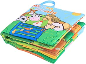1 Pc(10pages) Baby Cloth Book Toddler Activity Book for Baby Early Education Development Learning Activity Toy My Farm Animals