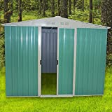 <span class='highlight'><span class='highlight'>Panana</span></span> 8 x 6ft Metal Garden Apex Roof Storage Shed with FREE Ground