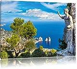 Insel Capri in Italien, Format: 80x60 auf Leinwand, XXL