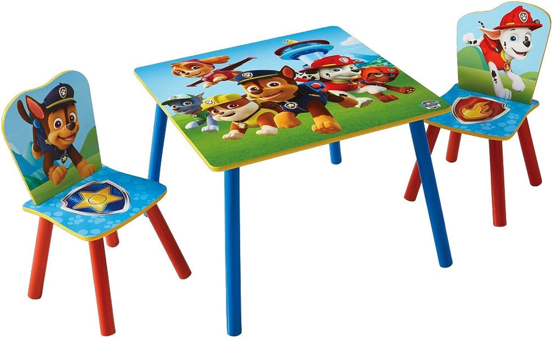 Sitzgruppe Kinder Paw Patrol - Kindertisch mit 2 Stühlen - Kindersitzgruppe