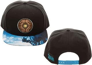 Legend of Zelda Breath of The Wild Snapback Hat Standard Black