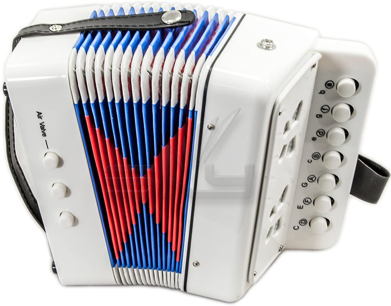 Sky Akkordeon 7Knopf 2Bass Kid Musik Instrument Hohe Qualitt einfach zu spielen