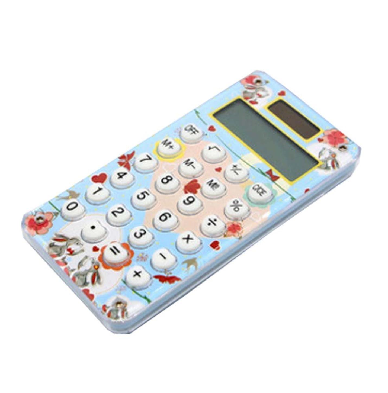 ミス前進粉砕するMiniスリムクレジットカードソーラー電源ポケット電卓8桁の大きな表示で、G