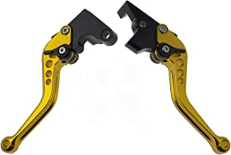Short Brake and Clutch Levers for Yamaha FZ-07 FZ07 FZ09 2014-2019,FZ8 2011-2015,FZ-10 16-19,FJ-09 15-19,XSR700/900 ABS 16-19,FZ6 FAZER 04-10,FZ6R 09-17,FZ1 FAZER 06-15,XJ6 DIVERSION 09-15-Gold