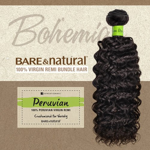 Sensationnel Unprocessed Peruvian Virgin Remy Human Hair Weave Bare & Natural Bohemian [20'] (NATURAL)