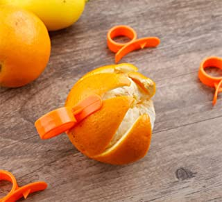 AKOAK 10 Pcs Household Lemon, Orange Peeler, Can be Used to Peel Oranges and Lemons or other Citrus Fruits and other Peel...