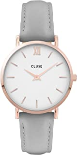 CLUSE Women's Quartz Watch with Leather Strap, Pink, 16 (Model: CW0101203010)