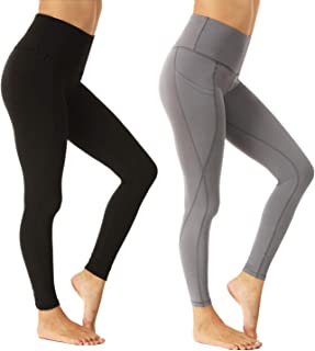 FuelMeFoot High Waist Yoga Pants Leggings with Pockets for Women 4 Way Stretch Ultra Soft Running Pants
