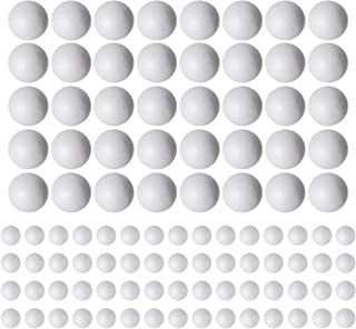 100 Pack Styrofoam Balls (40 piece 2'' inch, 60 piece 1'' inch) -Foam Balls- Foam Craft Balls - Foam Balls For Arts and Crafts- Floral Foam Balls- Bulk Styrofoam Balls-1 & 2 Inch Foam Balls (100 Pack)