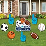 Go, Fight, Win - Sports - Yard Sign & Outdoor Lawn Decorations - Baby Shower or Birthday Party Yard Signs - Set of 8