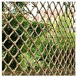 Scala Per Bambini Balcone Rete Anti-caduta Rete Di Recinzione Rete Di Corda Di Canapa Rete Decorativa 6mm*8cm Rete Di Copertura Del Carico Rete Di Sicurezza Fatta Naturale Rete(Size:4*5m(13*16ft))