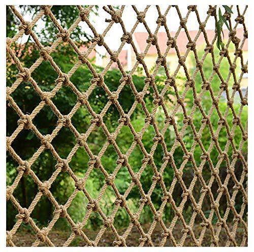 Red De Seguridad Para Niños 8 Mm * 10 Cm Redes De Cuerda De Cáñamo Escalera De Escalada Red De Cubierta De Carga 2 * 2M Barandilla Duradera Escaleras Equipo De Entretenimiento De(Size:3*3m(10*10ft))