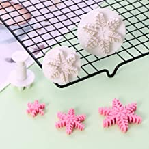 XIAOJIE 3Pcs Christmas Snowflower Shape Mold Fondant Cake Decorating Tool Embossing Die A