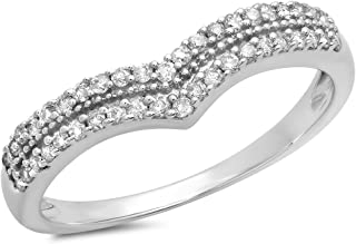 Best double row diamond anniversary band Reviews