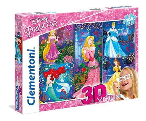Clementoni 20609.4 Clementoni-20609-3D Puzzle-Princess-104 Pieces- Disney, Multi-colour