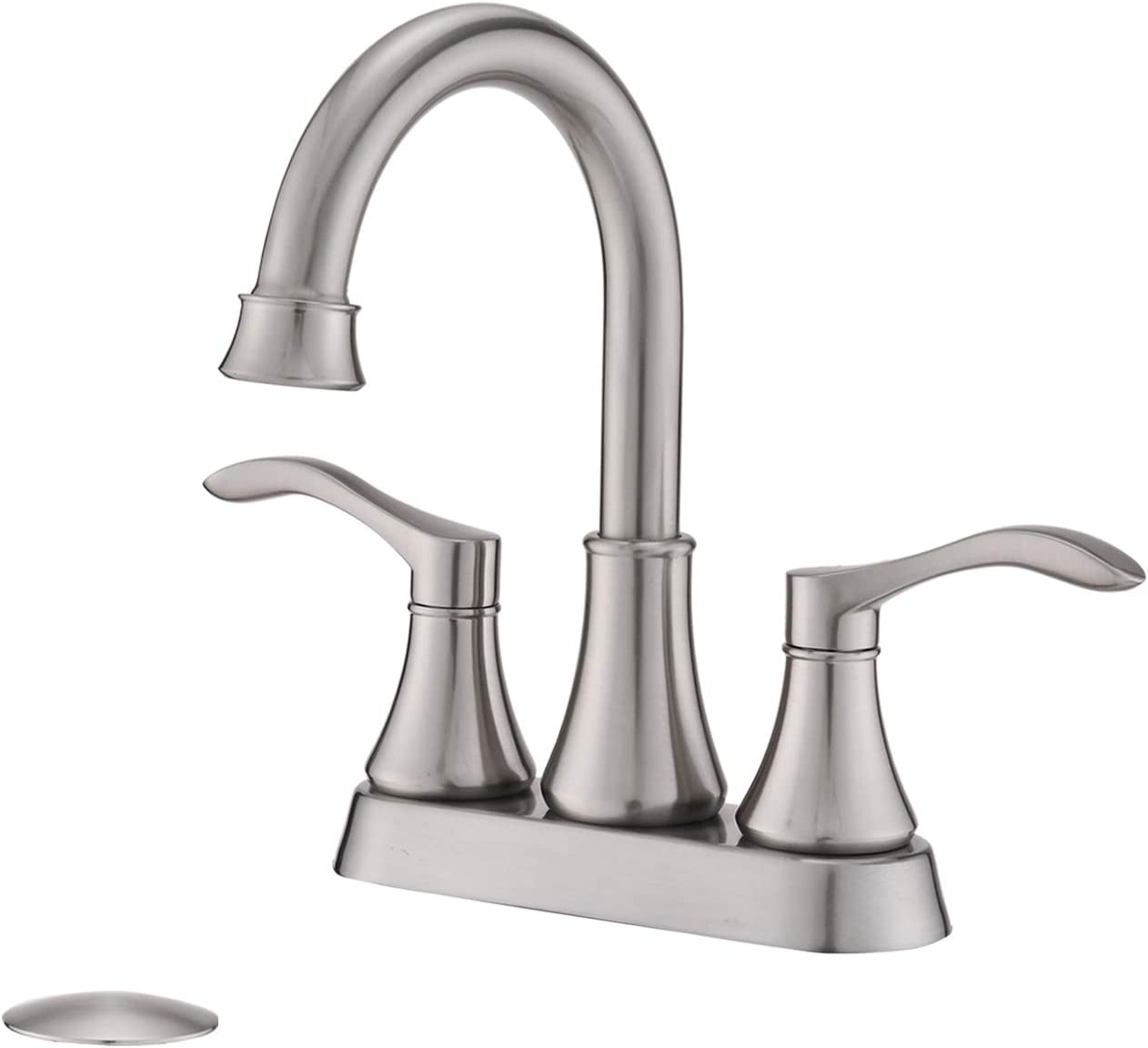 2 Challenge the Phoenix Mall lowest price of Japan ☆ Handle Bathroom Faucet Brushed Inch F 4 Sink