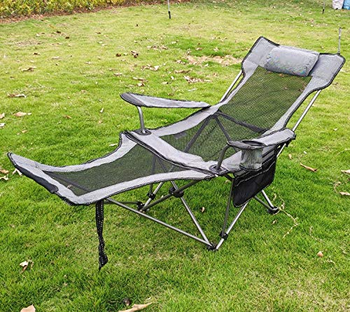 Hhusali Portable Arm Chair Camping Chair for Outdoor, Carry Bag Included