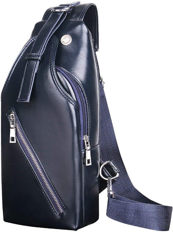 Pureed Umhängetasche Männer Casual Schulter Geeignet Style Diagonal Tasche Business Freizeit Mehrzweck Reiserucksack (Farbe   Blau, Größe   L) B07QGC3PFK