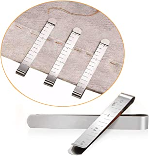 Sewing Clips Set of 20 Stainless Steel Hemming Clips 3 Inches Measurement Ruler Quilting Supplies for Wonder Clips Pinning...