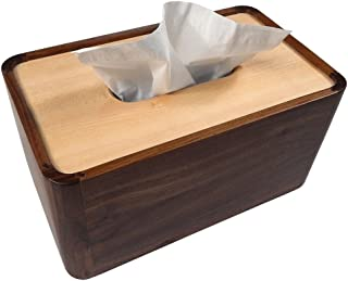 Tomokazu Lombard Maple and Walnut Wood Large Deluxe Tissue Paper Box Cover