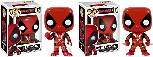 Deadpool with Two Swords and Thumbs Up Pop  Vinyl Figures Set of 2