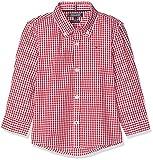 Tommy Hilfiger Boys Gingham Shirt L/s Blusa, Rojo (Apple Red 600), Talla única (Talla del Fabricante: 74) para Niños