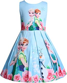 Princess Anna Costume Dresses Little Girls Cosplay Dress up
