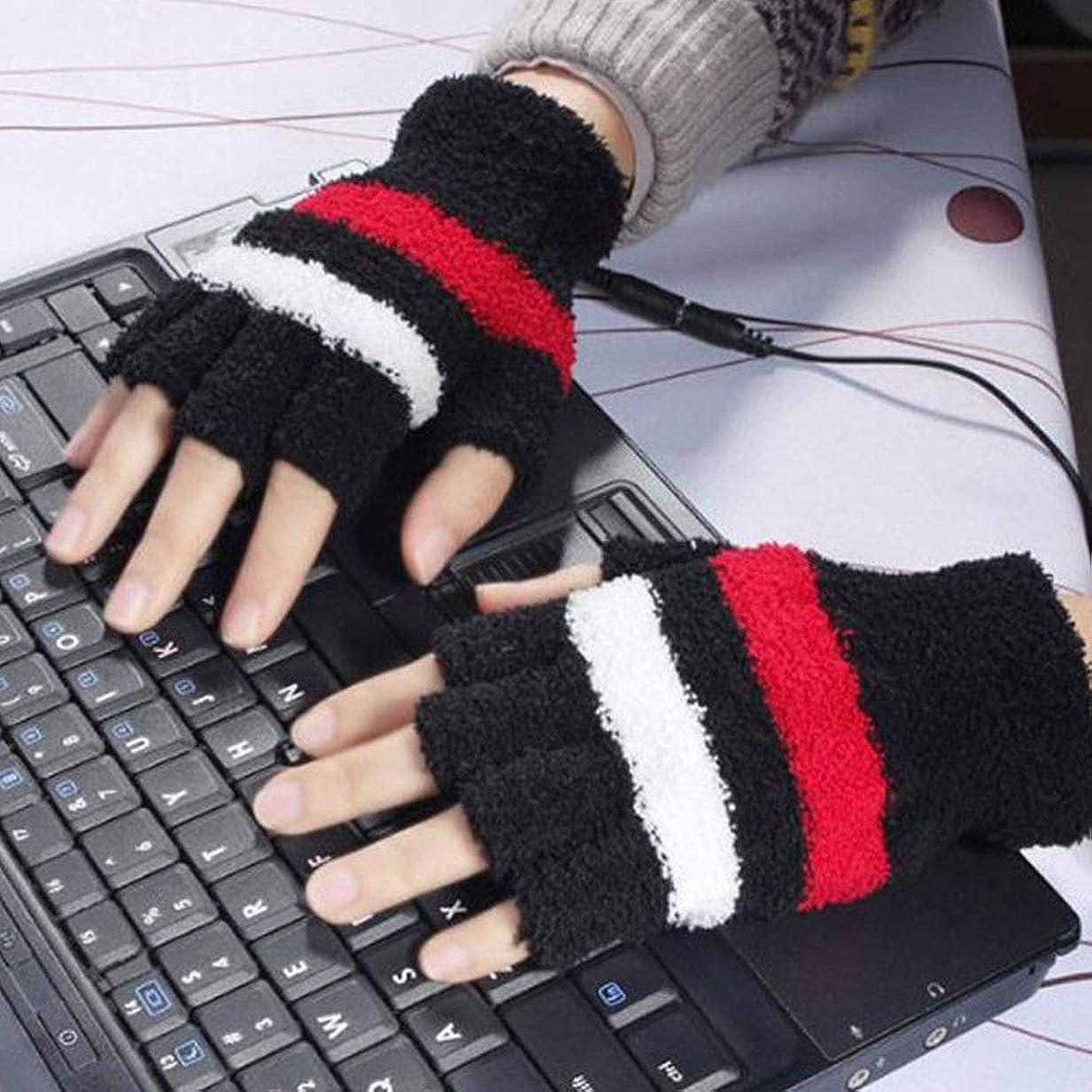 パーティー冗長キルスNiceou 暖房手袋 USB手袋 キャンプ キーボード フィンガーレス ユニセックス