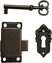 Axventari Antique Padlock 3 Vintage Lock w 2 Iron Skeleton Key Locks