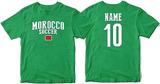 Morocco Men's Flag National Pride Man Soccer Team T-Shirt Soccer Jersey