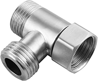 Bomcomi 1//2 St/ück UHF-Stecker auf Dual-Buchse Adapter T RF-Teiler-Verbindungs Male and Female Converter