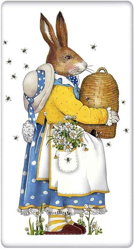 Beehive Easter Rabbit Bunny Flour Sack Cotton Kitchen Dish Towel 30 X 30 Mary Lake Thompson Design
