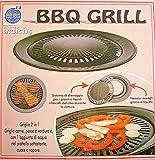 BERNIGROUP BBQ Grill Bistecchiera Dietetica Antiodore Antiaderente Barbeque Acqua