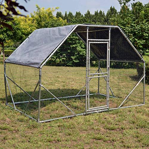 Wiltec XXL Freilaufgehege 2x3x2m für viel Auslauf mit wasserdichtem Sonnendach und Tür Voliere Außengehege