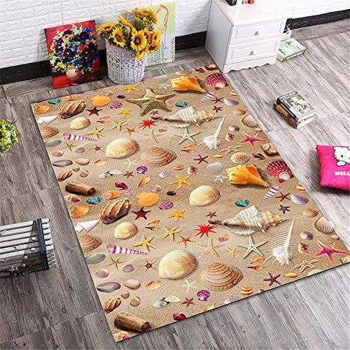 Tappeto Per Gatti I tappeti del sofà del salotto del modello della conchiglia e della conchiglia della spiaggia sono morbidi e durevoli Tappeto Cameretta Bimbo Tappeti Per Salotto marrone 160X230CM