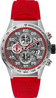 Carrera Manchester United edición especial cronógrafo automático negro chapado en oro dial reloj para hombre CAR201M.FT6156