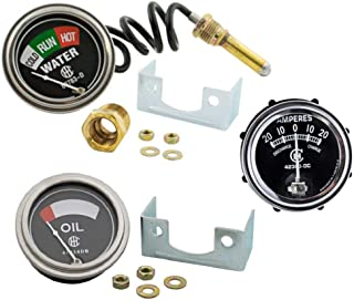 Oil Amp Temperature Gauge Set for IH Farmall H M W4-9 T6 IHC 1939-1946