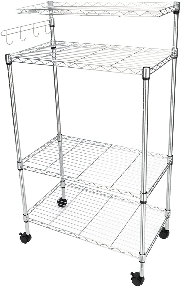 BTIF 4Tier Kitchen Bakers Rack Cart Oven NEW Popular brand before selling ☆ Storage Microwave Stand