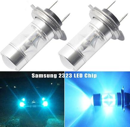 Studyset Head Light 20 LED Fog Driving Light Driving Car Lamp Bulbs High Power Ice Blue Light DRL Bulbs H7 50W