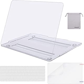 MOSISO MacBook Pro 13 inch Case 2019 2018 2017 2016 Release A2159 A1989 A1706 A1708, Plastic Hard Shell Case&Keyboard Cover&Screen Protector&Storage Bag Compatible with MacBook Pro 13, Crystal Clear