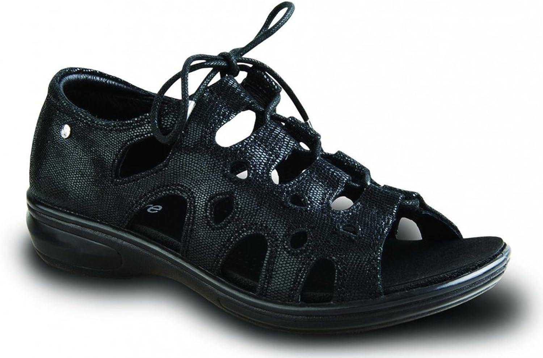 Revere Women's Napier Black Lizard Leather 9 Medium