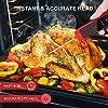 WOTEK Thermomètre Alimentaire, Thermomètre Cusine professionnel, Thermomètre Cuisson Sonde, Thermomètre Viande, avec Écran LED pour Pâtisserie, Cuisson, BBQ, Steak #3