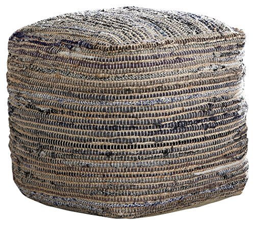 Signature Design by Ashley - Absalom Pouf - Cotton/Hemp - Contemporary - Natural