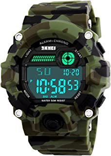JOYSAE Men's Digital Sports Watches, Waterproof Military Wrist Watches with Alarm, Stopwatch, Luminous Calendar Backlight Wrist Watch- Camouflage