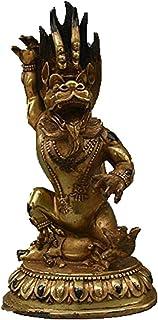 チベット仏教ブロンズ金箔ヤマンタカ山ダルマラージャ仏牛O像
