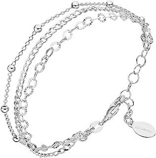 Canyon–Multi Row Bracelet–Silver–19cm–B5047