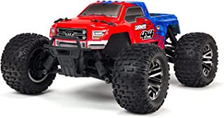 ARRMA 1/10 GRANITE 4X4 3S BLX Brushless 4WD RC Monster Truck RTR with 2.4GHz Radio (Battery Not Included), Red/Blue (ARA102720T2)