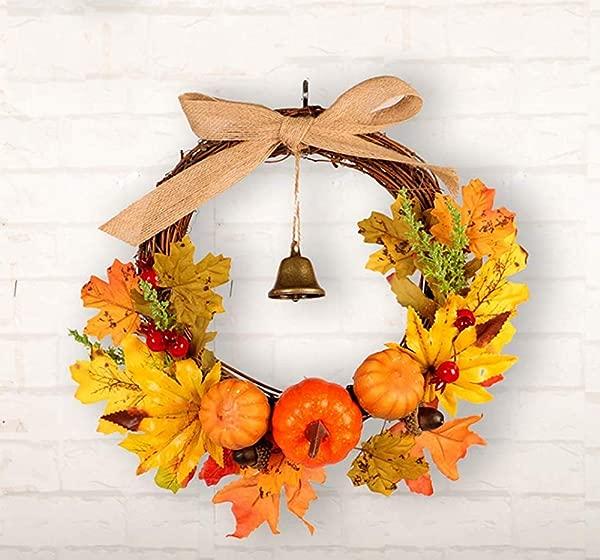 Peiyu Hanging Garland Home Decoration Halloween Wreath For Pumpkin Maple Leaf Bell
