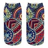 COZOCO Calcetines De Algodón Casuales Lindos 3d Retro Patrón De Impresión Calcetines Calcetines Calcetines Deportivos (una talla, M)
